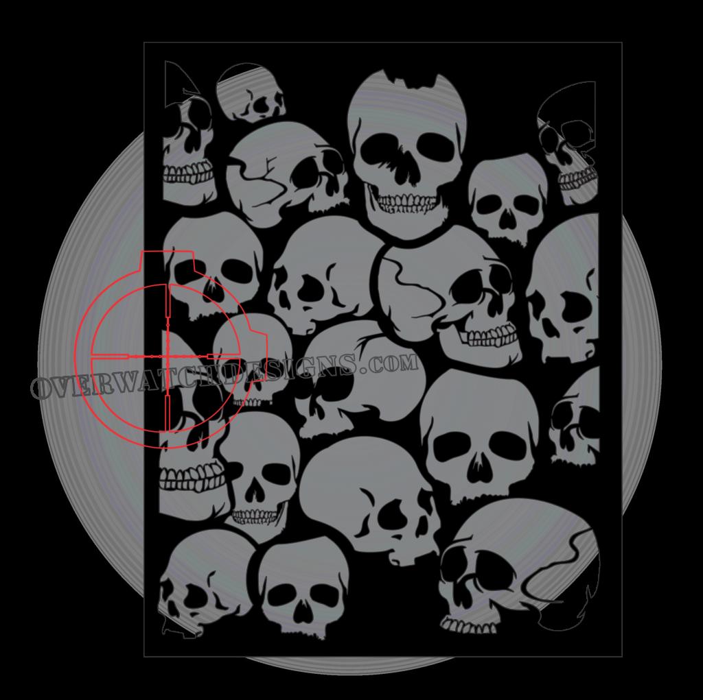 Skull Stencil Overwatch Designs