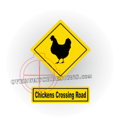 Chickens Crossing Sign Decal
